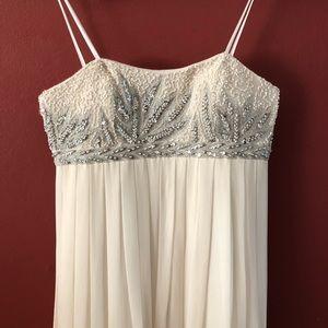 Beautiful cream sequin wedding or prom dress